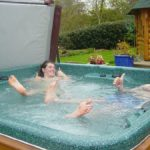 Barbeque area hot tub. RS jpg