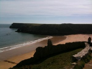 Walking to Barafundle Bay, Pembrokeshire