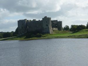 Carew Castle and Tidal Mill Pond, Pembrokeshire