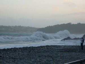 Rough seas in Amroth, Pembrokeshire