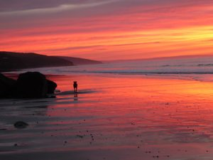 Amroth beach Pembrokeshire just before Sunrise RS(6)