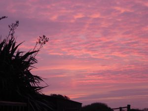 Morning sky from Granary Cottage, Amroth Cottages, PembrokeshireRS (1)