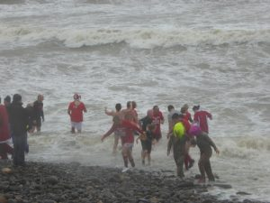 New Year's Day swim Amroth Pembrokeshire3RS