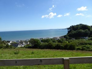 View from the Observation bench at Amroth Cottages Furzewood Farm Pembrokeshire RS(4)