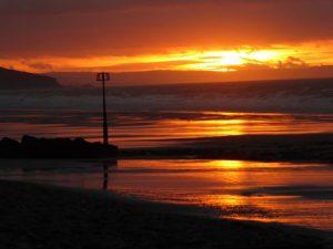 Superb September sunrise, Amroth beach