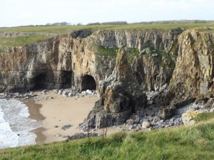 Cliff path between Barafundle bay and Broad Haven South