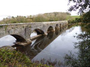 Eight arch bridge at Bosherston lakes