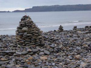 Fun with Stone stacks at Amroth