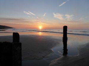 Another superb sunrise on Amroth beach